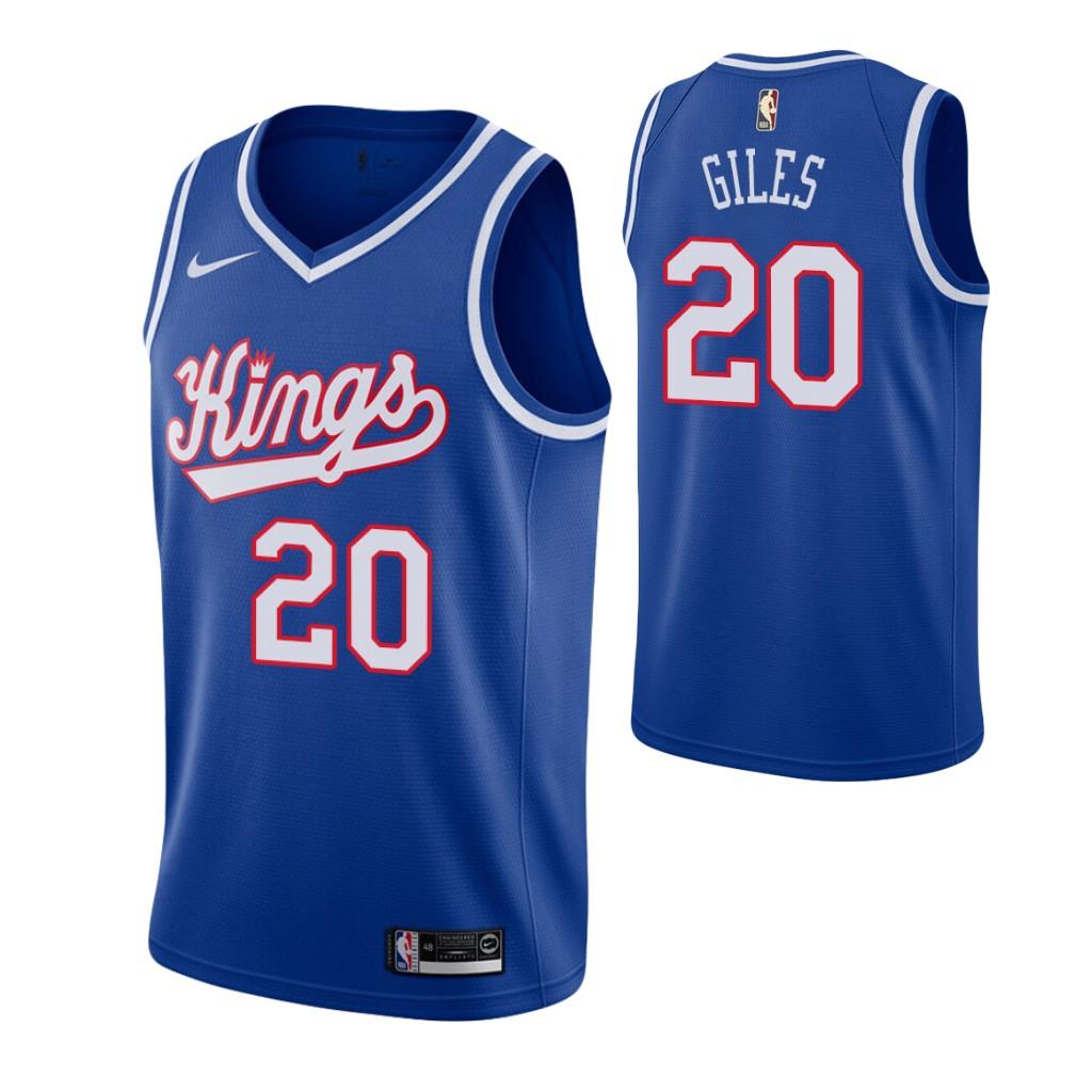 Men's Sacramento Kings #20 Harry Giles Blue 2019-20 Hardwood Classics Jersey