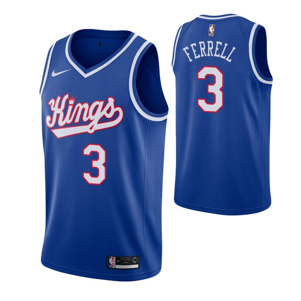 Men's Sacramento Kings #3 Yogi Ferrell Blue 2019-20 Hardwood Classics Jersey