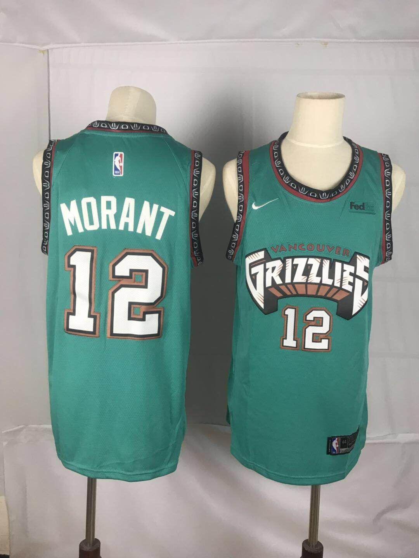 Grizzlies 12 Ja Morant Green Nike Throwback Swingman Jersey