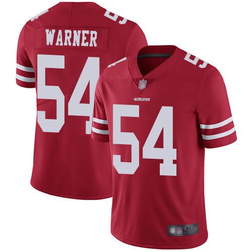 Men's San Francisco 49ers #54 Fred Warner Red Team Color Vapor Untouchable Limited Player Football Jersey