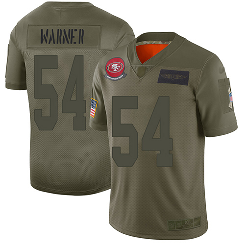 Men's San Francisco 49ers #54 Fred Warner Limited Camo 2019 Salute to Service Football Jersey