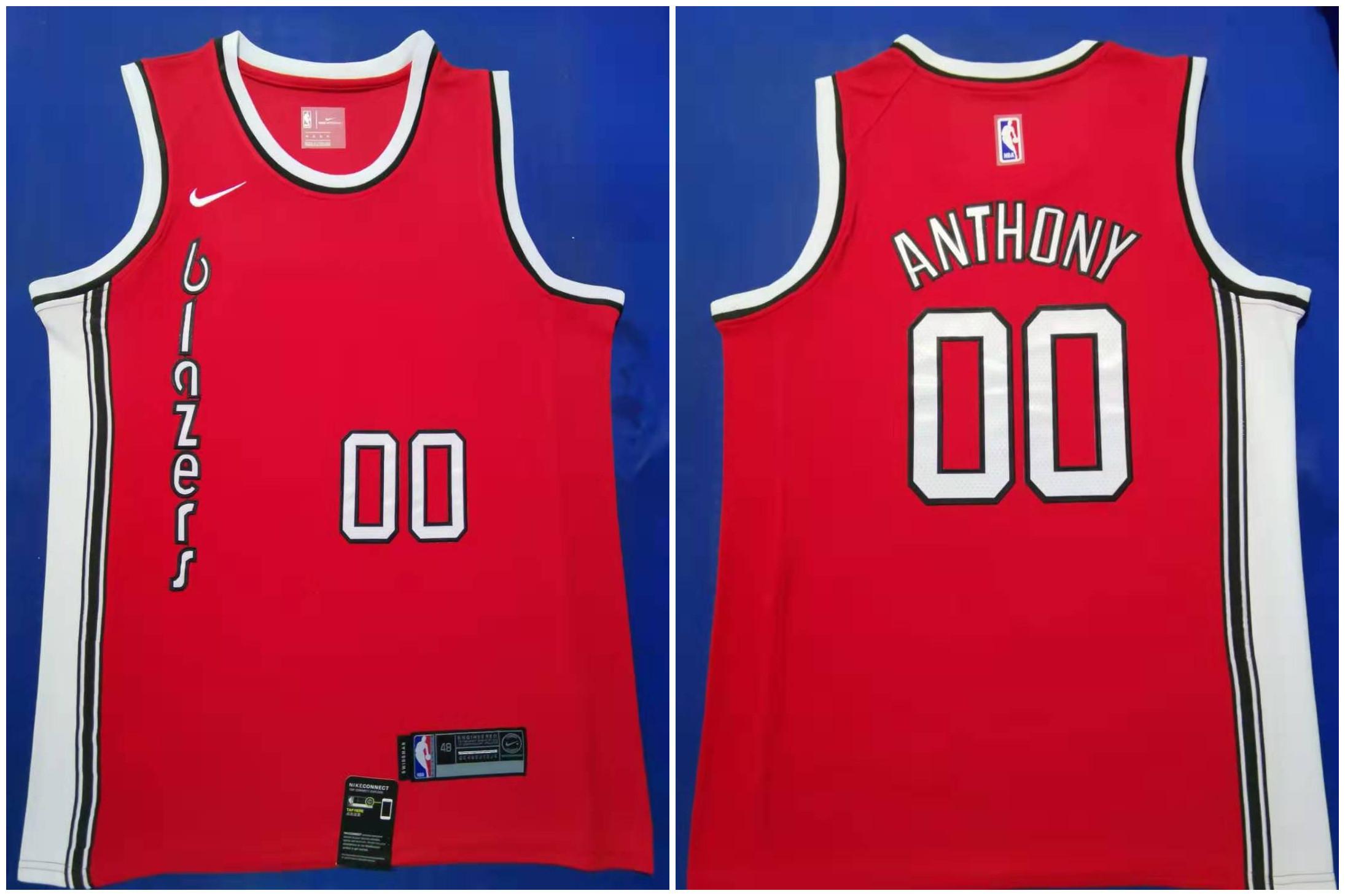 Blazers #00 Carmelo Anthony Red 2019-20 Nike Swingman Jersey