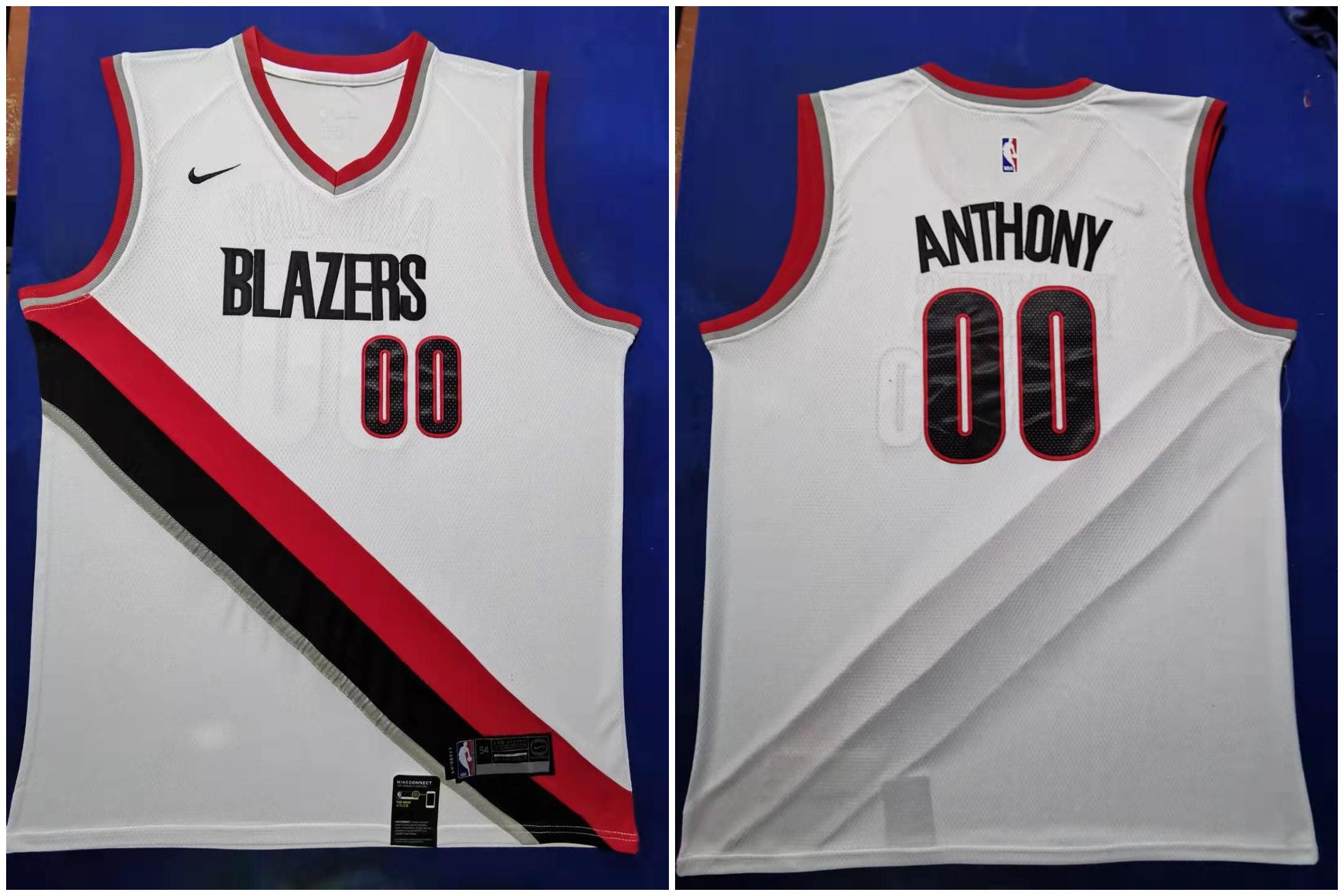Blazers #00 Carmelo Anthony White 2019-20 Nike Swingman Jersey