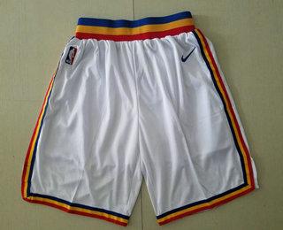 Men's Golden State Warriors White Hardwood Classics Soul Swingman Throwback Shorts