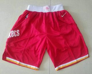 Men's Houston Rockets New Red 2019 Nike Hardwood Classics Stitched NBA Shorts