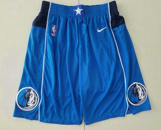 Men's Dallas Mavericks New Light Blue 2019 NBA Swingman Stitched NBA Shorts