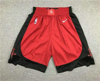 Men's Houston Rockets New Red 2019 Nike Swingman Stitched NBA Shorts