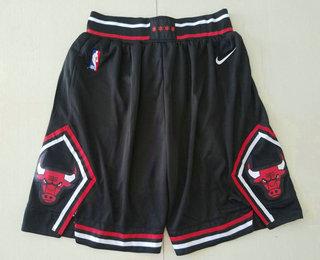 Men's Chicago Bulls Black 2019 Nike Swingman Stitched NBA Shorts