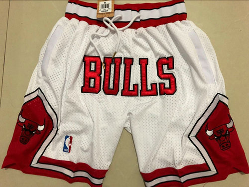 Bulls White 1997-98 Limited Shorts