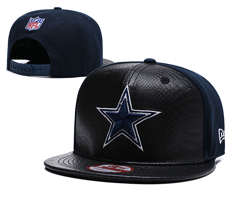 NFL Dallas Cowboys Team Logo Black Adjustable Hat YD