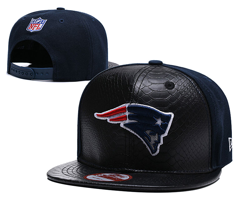 NFL New England Patriots Team Logo Navy Silver Adjustable Hat YD