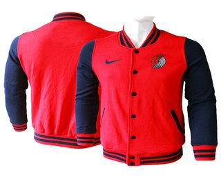 Men's Portland Trail Blazers Red Stitched NBA Jacket