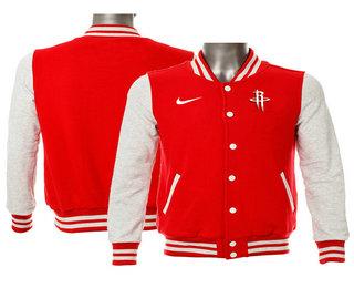 Men's Houston Rockets Nike Red Stitched NBA Jacket