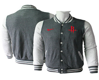 Men's Houston Rockets Nike Gray Stitched NBA Jacket