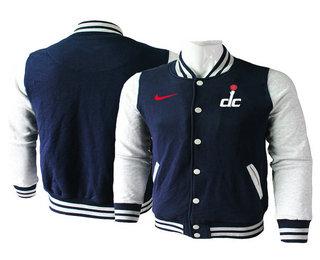 Men's Washington Wizards Navy Blue Stitched NBA Jacket
