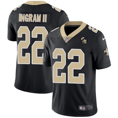 Nike New Orleans Saints #22 Mark Ingram II Black With Tom Benson Patch Vapor Untouchable Limited Jersey