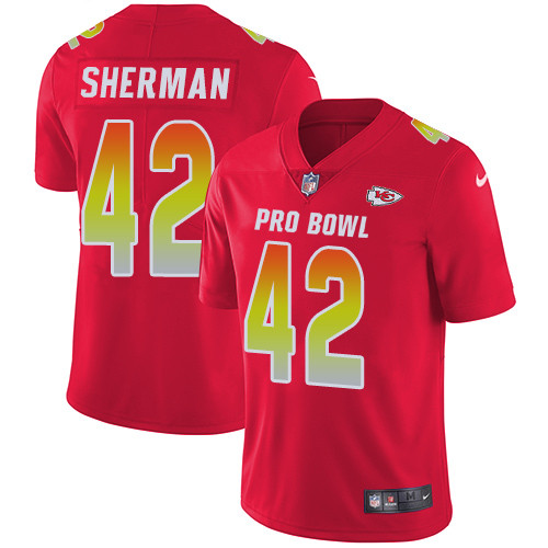 Nike Kansas City Chiefs #42 Anthony Sherman Red Men's Stitched NFL Limited AFC 2019 Pro Bowl Jersey