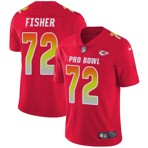 Nike Kansas City Chiefs #72 Eric Fisher Red Men's Stitched NFL Limited AFC 2019 Pro Bowl Jersey