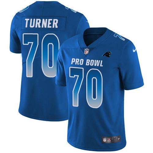 Nike Carolina Panthers #70 Trai Turner Royal Men's Stitched NFL Limited NFC 2019 Pro Bowl Jersey