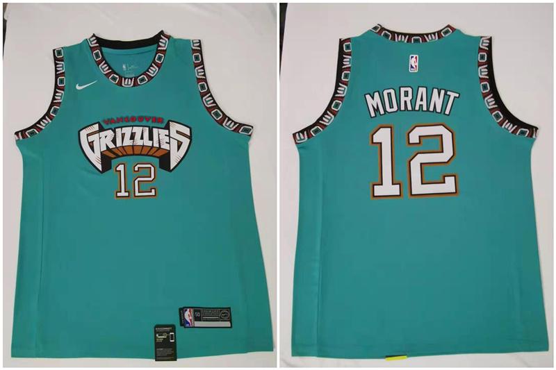 Men's Memphis Grizzlies #12 Ja Morant Green Nike 2019 ABA Hardwood Classics Green Throwback Swingman Jersey
