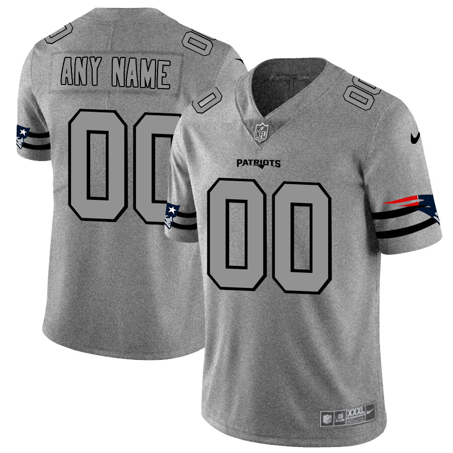 Nike Patriots Customized 2019 Gray Gridiron Gray Vapor Untouchable Limited Jersey