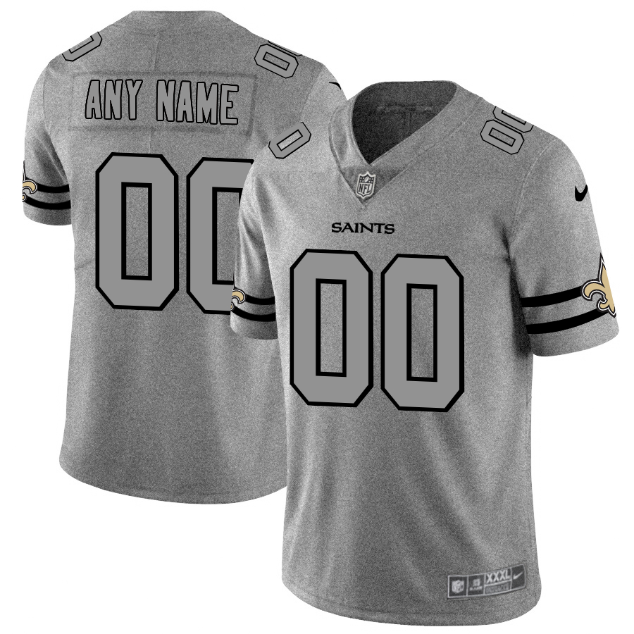 Nike Saints Customized 2019 Gray Gridiron Gray Vapor Untouchable Limited Jersey