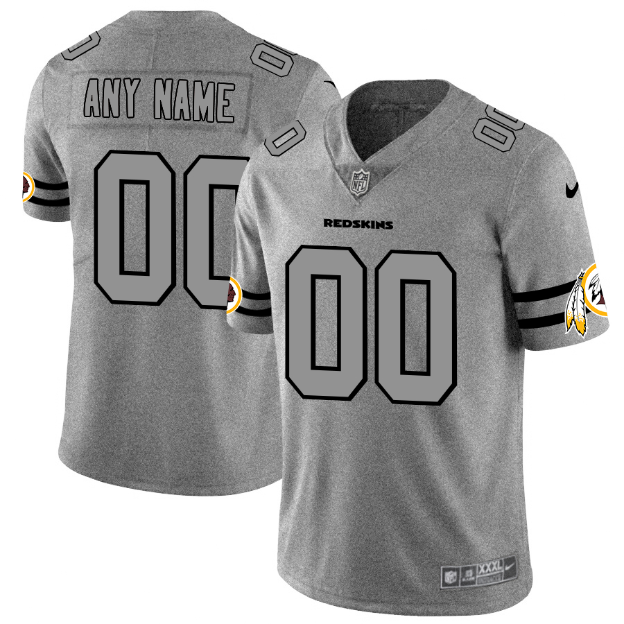 Nike Redskins Customized 2019 Gray Gridiron Gray Vapor Untouchable Limited Jersey