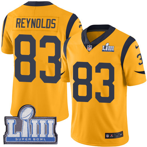 Men's Los Angeles Rams #83 Josh Reynolds Gold Nike NFL Rush Vapor Untouchable Super Bowl LIII Bound Limited Jersey