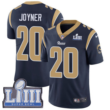 #20 Limited Lamarcus Joyner Navy Blue Nike NFL Home Men's Jersey Los Angeles Rams Vapor Untouchable Super Bowl LIII Bound