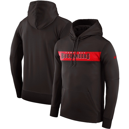 Men's Tampa Bay Buccaneers Nike Pewter Sideline Team Performance Pullover Hoodie