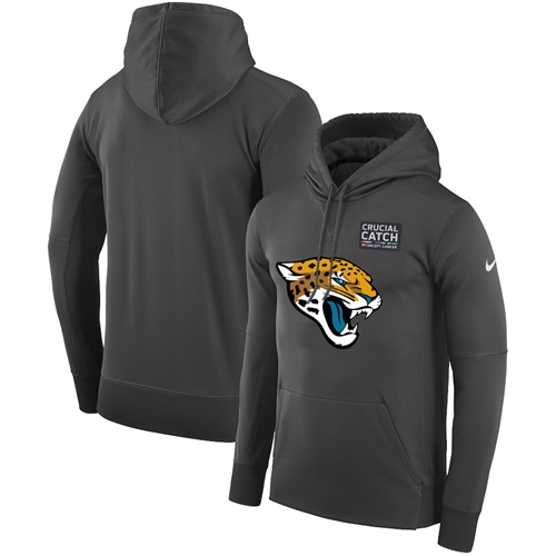 NFL Men's Jacksonville Jaguars Nike Anthracite Crucial Catch Performance Pullover Hoodie