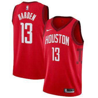 Men's Houston Rockets 13 James Harden Nike Red 2018-19 Swingman Earned Edition Jersey