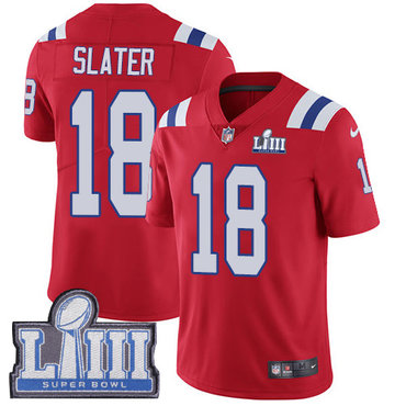 Men's New England Patriots #18 Matthew Slater Red Nike NFL Alternate Vapor Untouchable Super Bowl LIII Bound Limited Jersey