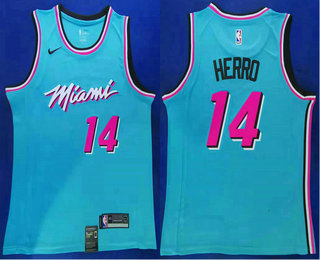 Men S Miami Heat 14 Tyler Herro Light Blue 2019 Nike Swingman Stitched Nba Jersey On Sale For Cheap Wholesale From China