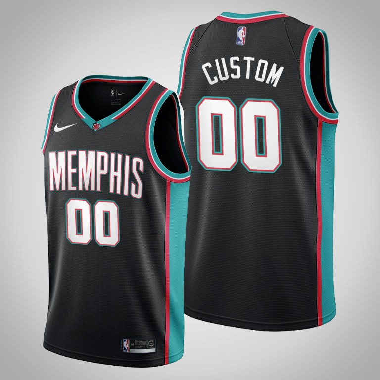 Grizzlies Custom #00 Black 20th Season Throwbacks Jersey