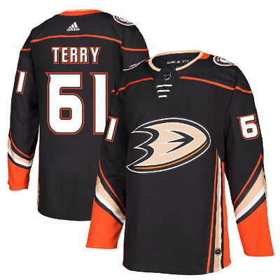 Men's Anaheim Ducks #61 Troy Terry Black 2017-2018 Hockey Stitched NHL Jersey
