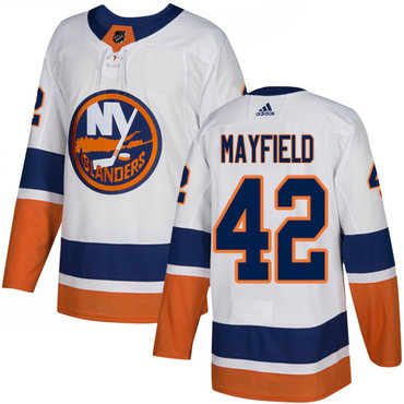 Men's New York Islanders #42 Scott Mayfield Reebok White Away Authentic NHL Jersey