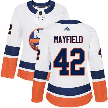 Women's New York Islanders #42 Scott Mayfield Reebok White Away Authentic NHL Jersey