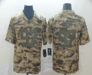 Men's San Francisco 49ers #97 Nick Bosa Nike Camo 2018 Salute to Service Stitched NFL Limited Jersey