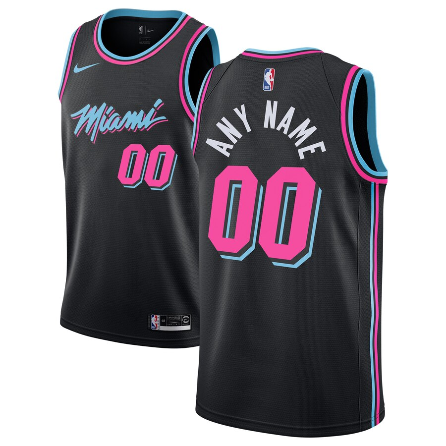 Men's Miami Heat Nike Black 2018-19 Swingman Custom City Edition Jersey
