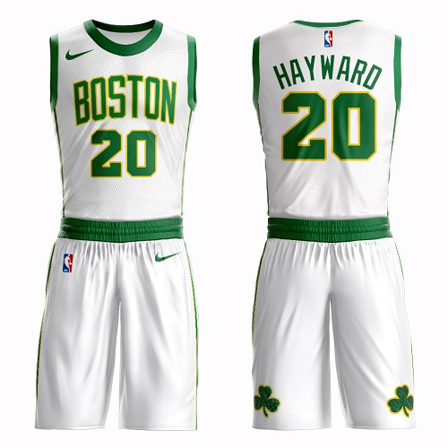 Boston Celtics #20 Gordon Hayward White Nike NBA Men's City Authentic Edition Suit Jersey