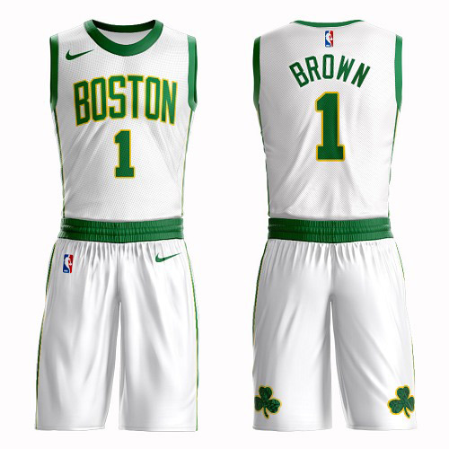 Boston Celtics #1 Walter Brown White Nike NBA Men's City Edition Suit Authentic Jersey