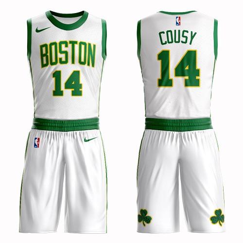 Boston Celtics #14 Bob Cousy White Nike NBA Men's City Edition Suit Authentic Jersey