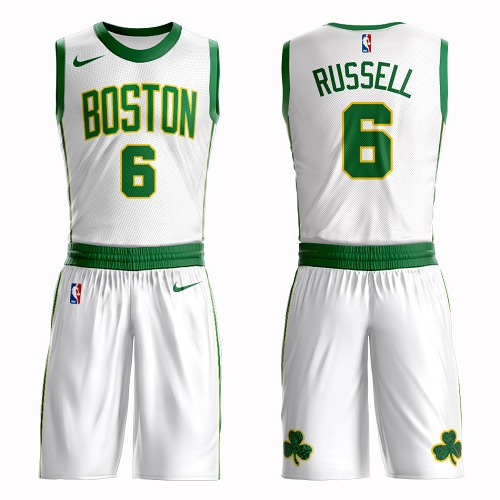 Boston Celtics #6 Bill Russell White Nike NBA Men's City Authentic Edition Suit Jersey