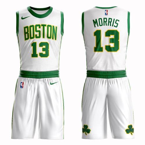 Boston Celtics #13 Marcus Morris White Nike NBA Men's City Authentic Edition Suit Jersey