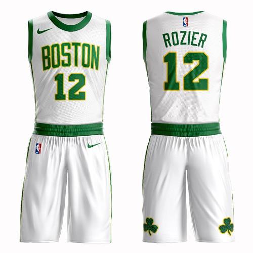 Boston Celtics #12 Terry Rozier White Nike NBA Men's City Authentic Edition Suit Jersey