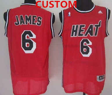 Miami Heat Custom ABA Hardwood Classics Swingman Red Jersey