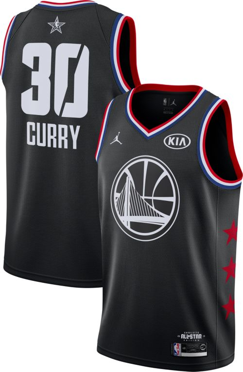 Jordan Men's 2019 NBA All-Star Game #30 Steph Curry Black Dri-FIT Swingman Jersey