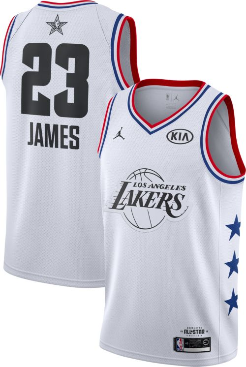 Jordan Men s 2019 NBA All-Star Game  23 LeBron James White Dri-FIT Swingman  Jersey e65305b5d