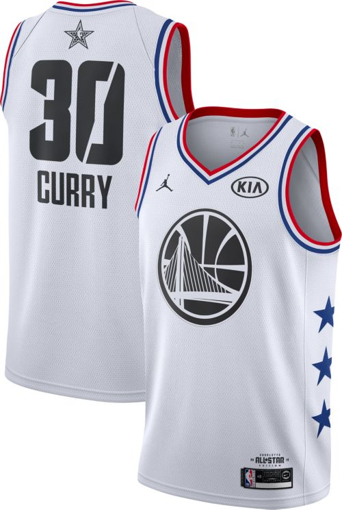 Jordan Men's 2019 NBA All-Star Game #30 Steph Curry White Dri-FIT Swingman Jersey